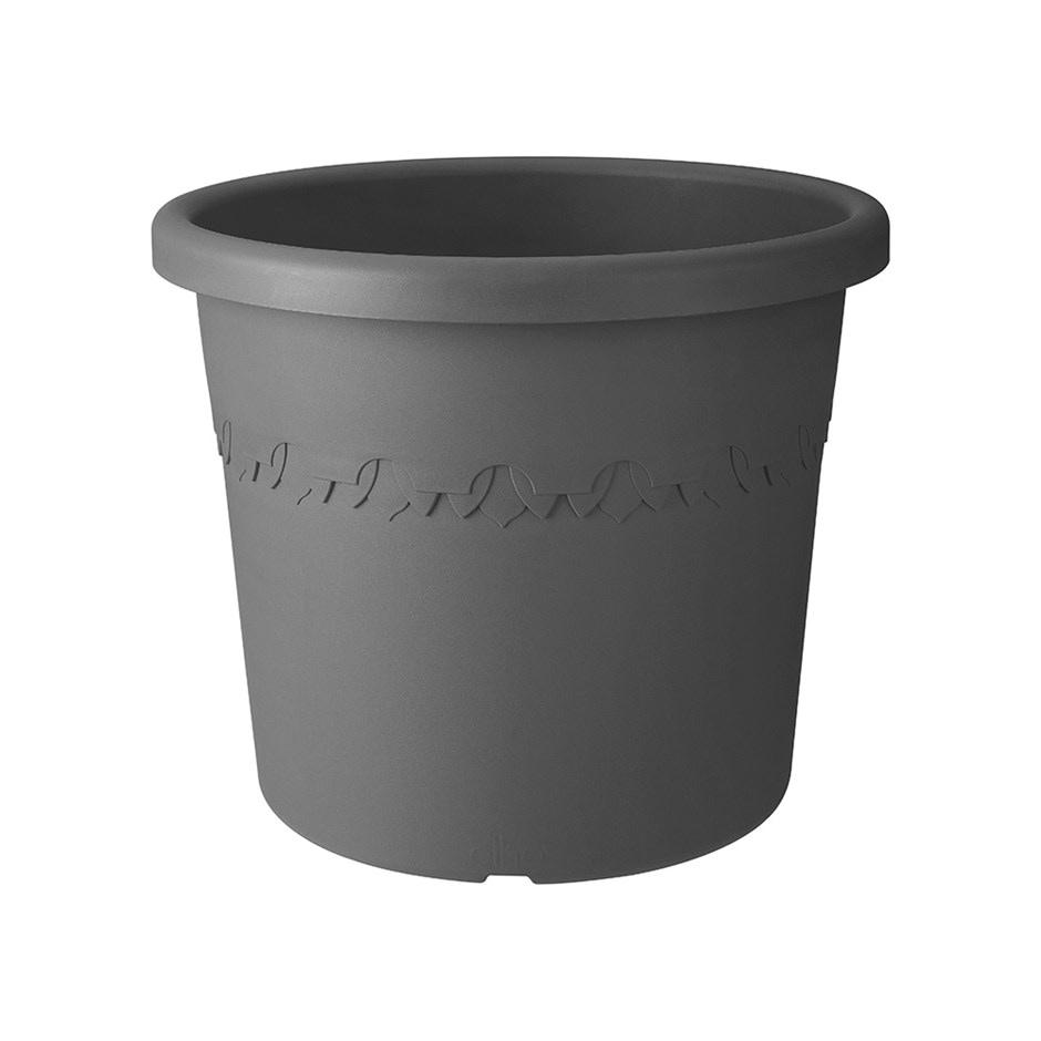 Algarve cilindro anthracite wheeled pot