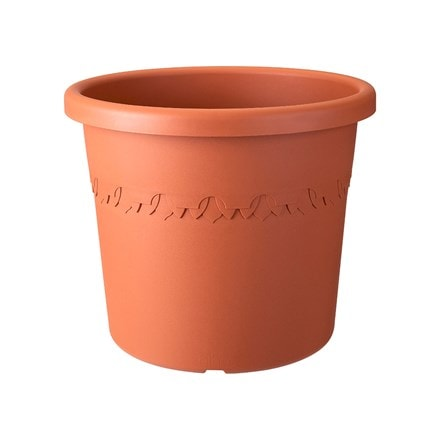Algarve cilindro terracotta wheeled pot