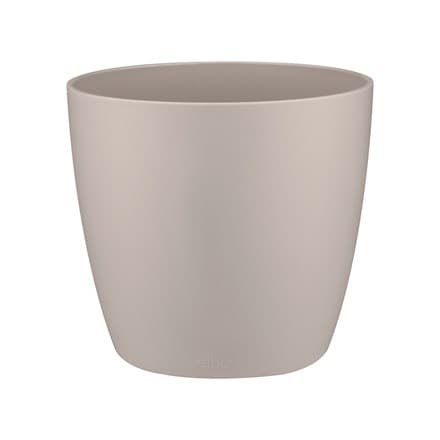 Brussels round mini pot cover warm grey