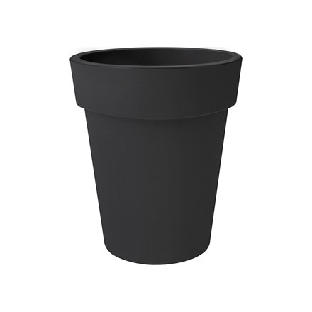 Green basics top planter high living black