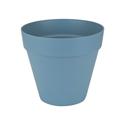 Loft urban pot with wheels vintage blue