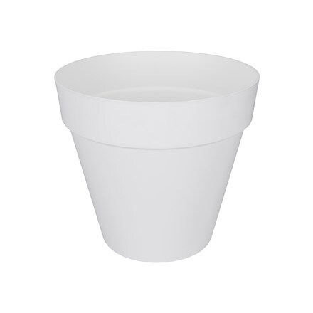 Loft urban round pot white