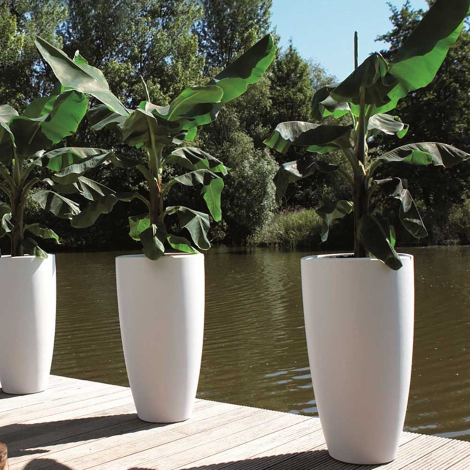 Pure soft round high pot white