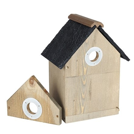 Multi nest box with slate effect roof