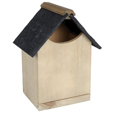 Robin nest box with slate effect roof