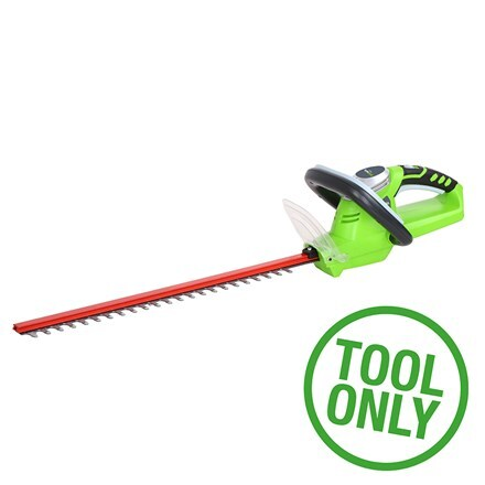 Cordless Greenworks G24HT54 24V hedge trimmer - tool only