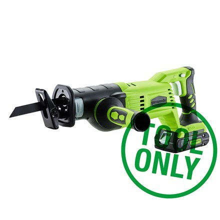 Cordless Greenworks G24RS 24V reciprocating saw - tool only