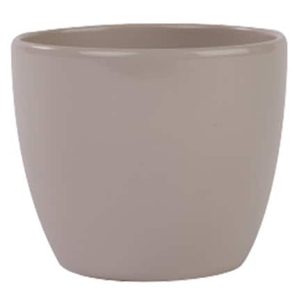 Clay planter - taupe