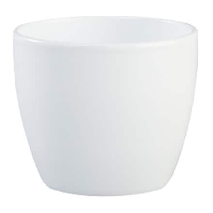 Clay planter - white