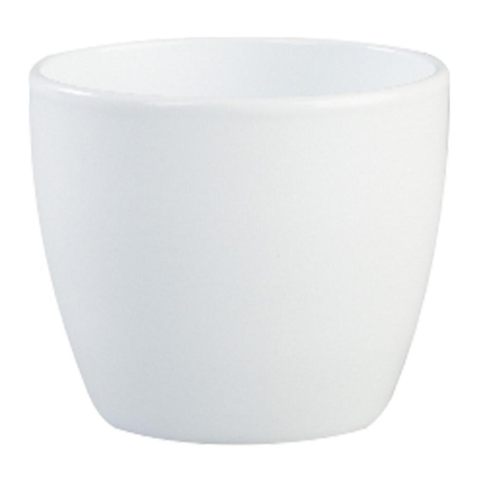 Clay planter - white