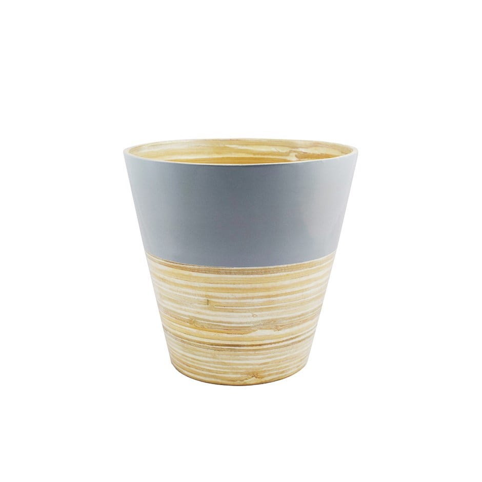 Bamboo planter grey - two sizes
