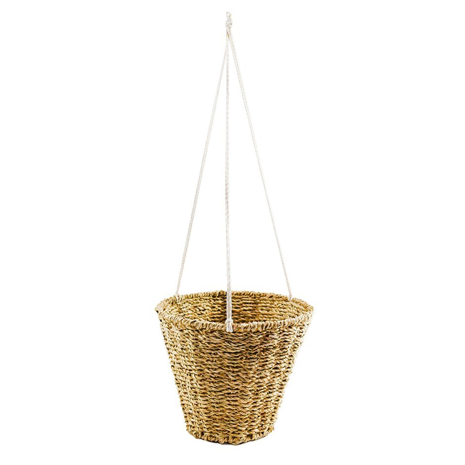 Hanging seagrass planter