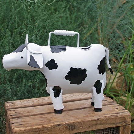 Ornamental watering can - cow