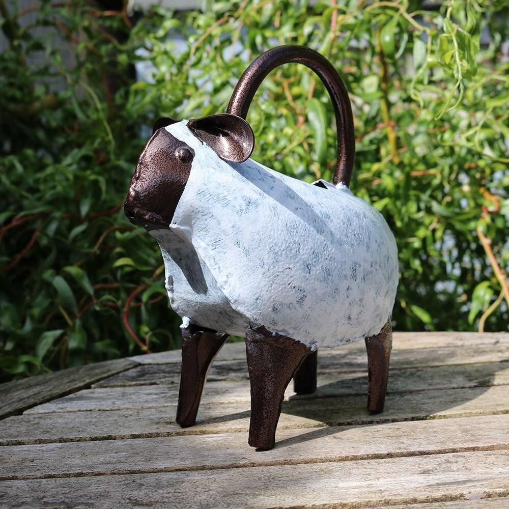 Ornamental watering can - lamb