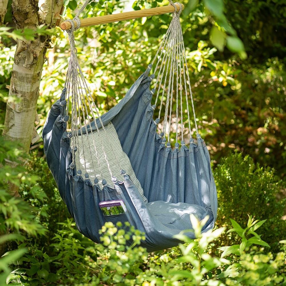Swing hammock chair - denim & Buy Swing hammock chair - denim: Delivery by Waitrose Garden in ...