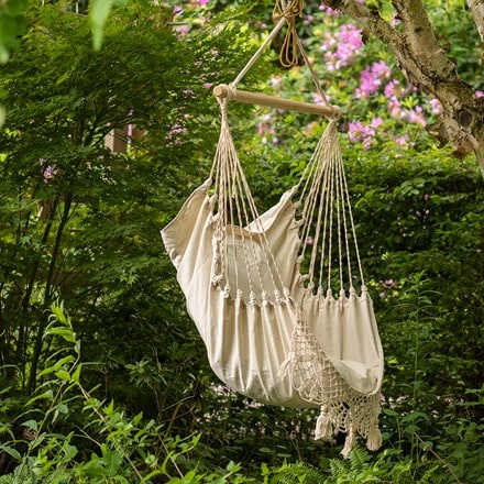 Swing hammock chair - ecru