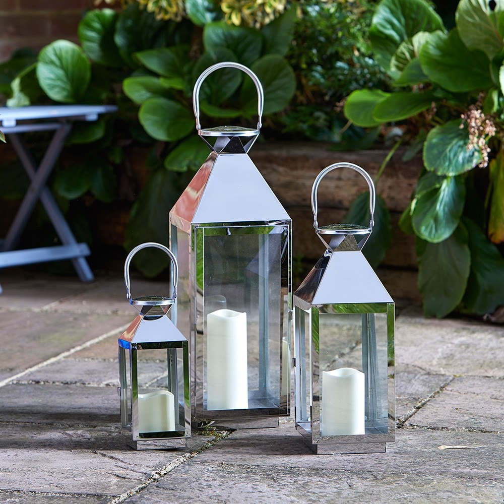 Buy Stockholm lantern set: Delivery by Waitrose Garden