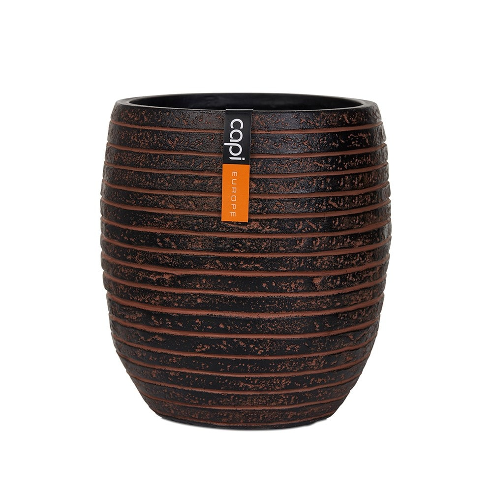 Vase elegant high II row brown