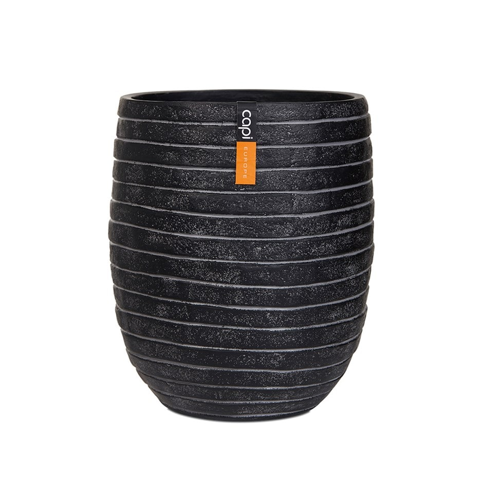 Vase elegant high II row black