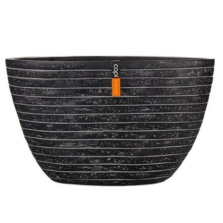 Oval planter row II black