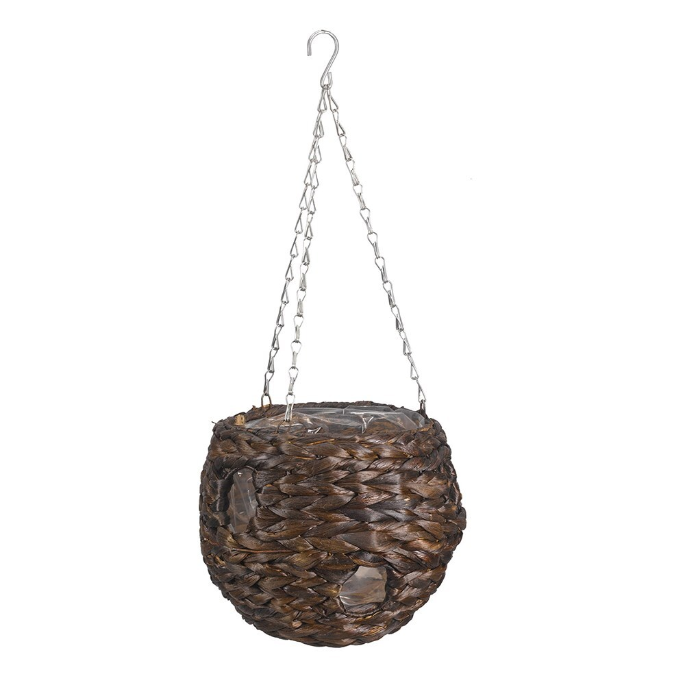 Natural weave hanging ball