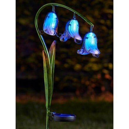 Solar bluebell stake lights