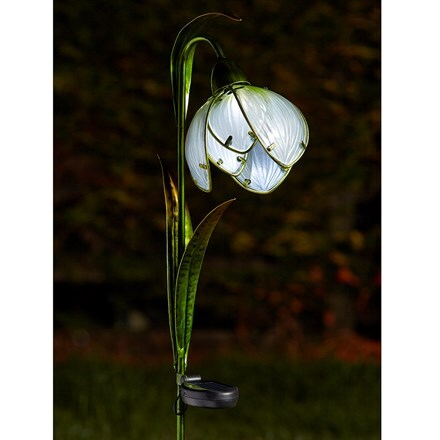 Solar snowdrop stake lights