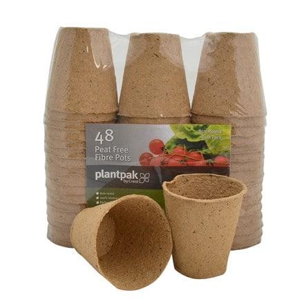 Plantpak fibre pot - 8cm round bulk pack