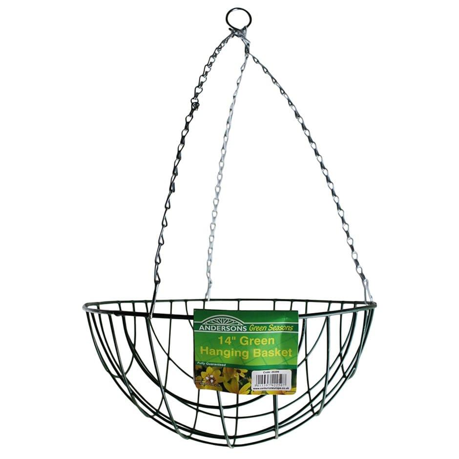 Hanging basket - green