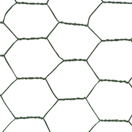 Plastic coated wire net