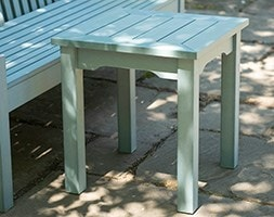 Side table powder blue
