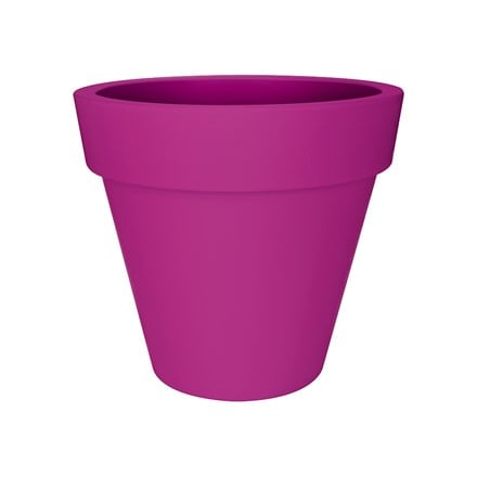 Pure round pot fuchsia