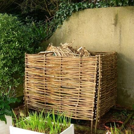 Hazel compost box - 4 panels