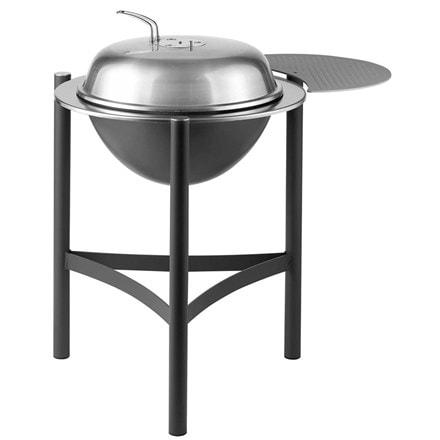 Dancook 1900 kettle charcoal barbecue with side table