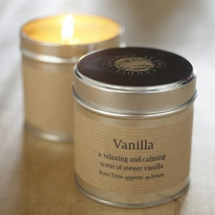 St Eval scented candle tin vanilla