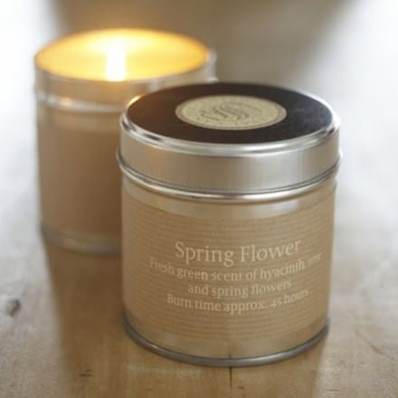 St Eval scented candle tin springflower