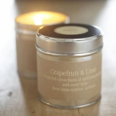 St Eval scented candle tin grapefruit and lime
