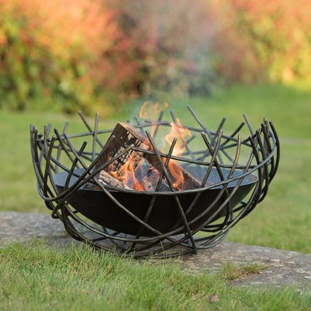 Nest iron fire pit bowl + FREE fire starter dome