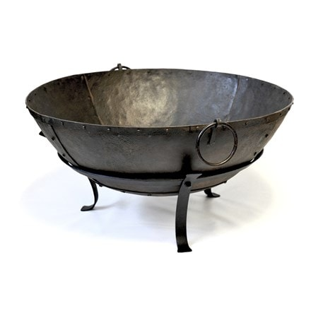 Large Indian fire pit bowl + FREE fire starter dome