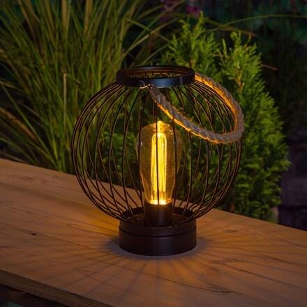 Black metal round lantern