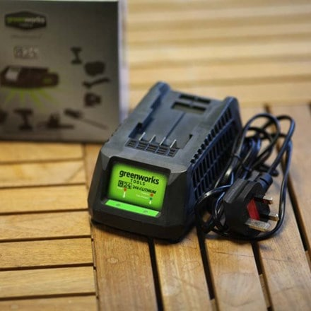Cordless Greenworks battery charger