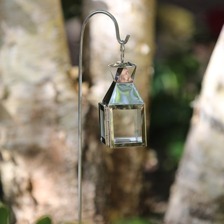 Mini square lantern with stake