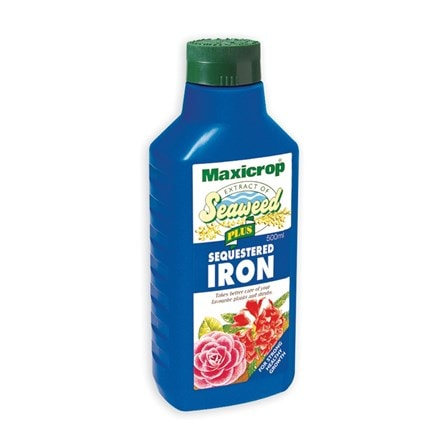 Maxicrop seaweed extract plus sequestered iron