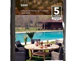 Circular patio set cover - 4/6 seat