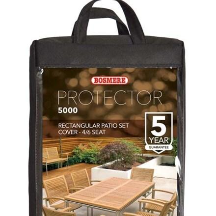 Rectangular patio set cover - 4/6 seat