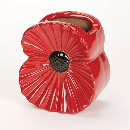 Poppy wall pot
