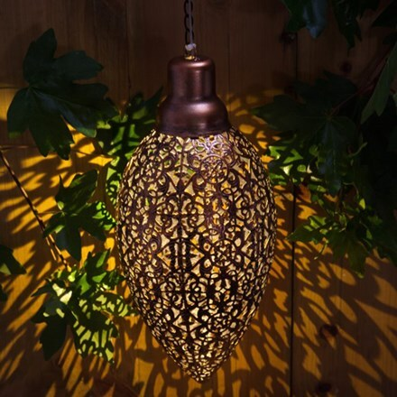 Modern metallic hanging light
