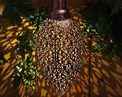 Solar modern metallic hanging light