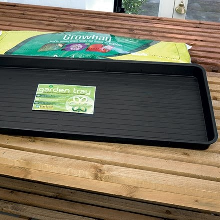 Premium grow bag tray - black