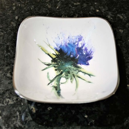 Recycled thistle square bowl